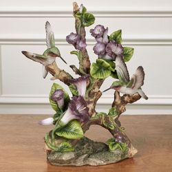 Vivacious Hummingbird Table Sculpture Purple