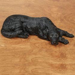 Lovable Labrador Retriever Dog Sculpture Black