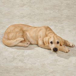 Lovable Labrador Retriever Dog Sculpture Yellow