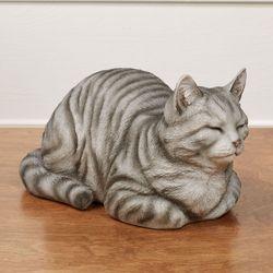Resting Cat Sculpture Gray
