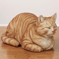 Resting Cat Sculpture Orange