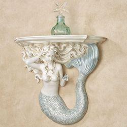 Adellia Mermaid Wall Shelf White/Blue