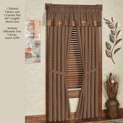 Prescott Tailored Curtain Pair Multi Warm