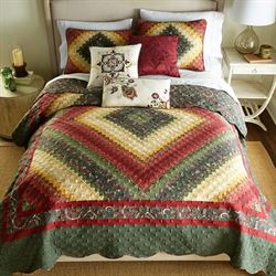 Spice Postage Stamp Reversible Quilt Multi Warm