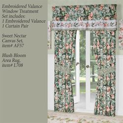 Catalina Embroidered Window Treatment Set Seagrass Set of Three