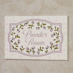 Enchanted Rose Powder Room Wall Plaque Lavender