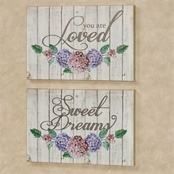 Sweet Sentiments Floral Canvas Wall Art Set Multi Pastel Set of Two