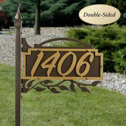 Shepherd Ivy Yard Address Post Gold/Bronze