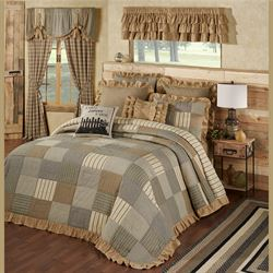 Prairie Mill Patchwork Grande Bedspread Multi Warm
