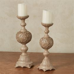 Brevard Factory Second Candleholders Beige Set of Two