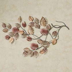 Swaying Leaves Metal Wall Art Pink