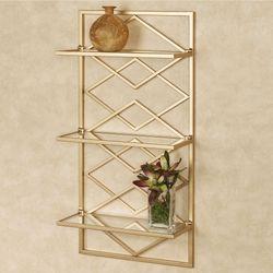 Diamond Interlink Wall Shelf Gold