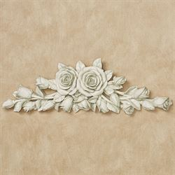 Rose Melody Wall Topper Antique White