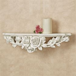 Rose Melody Wall Shelf Antique White