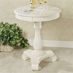 Bellview Pedestal Table Whitewash