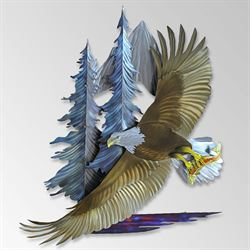 Freedom in Flight Eagle Wall Sculpture Multi Metallic