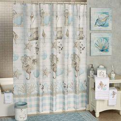 Farmhouse Shell Shower Curtain Off White 72 x 72