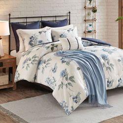 Zennia Comforter Bed Set Blue