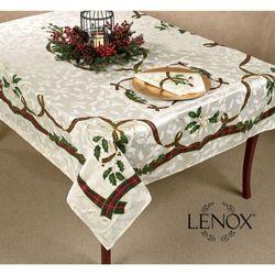 Lenox Holiday Nouveau Oblong Tablecloth Off White