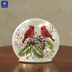 Cardinals Gather Lighted Dome Red