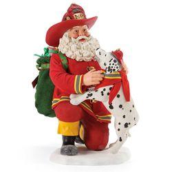 Northpole Company Clothtique Santa Figurine Red