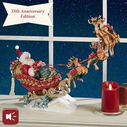 Dash Away All Clothtique Santa Figurine Red