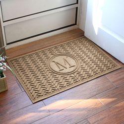 Chevron Monogram Doormat 36 x 24