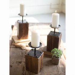 Clanton Candleholders Brown Set of Three