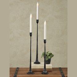 Laine Tall Taper Candleholders Black Set of Three