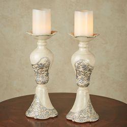 Floressa Candleholder Pair Silver