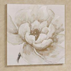 Elegant Bloom Floral Canvas Wall Art Ivory