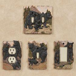 Bears in Mountain Single Switch Black