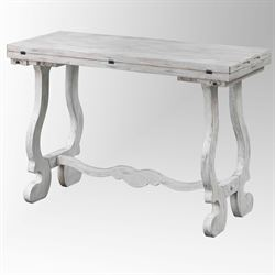 Alexis Fold Out Console Table Weathered White