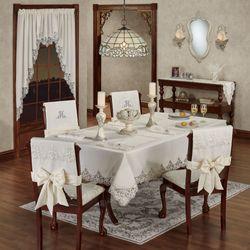 Evangelina Oblong Tablecloth Ivory