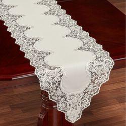 Evangelina Table Runner Ivory