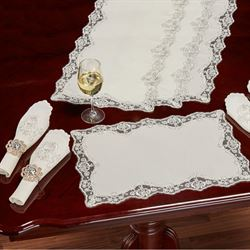 Evangelina Placemats Ivory Set of Four