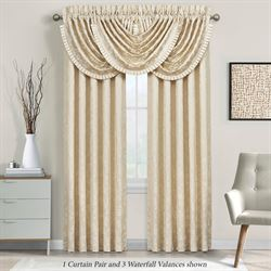 Blossom Wide Lined Curtain Pair Pearl 100 x 84