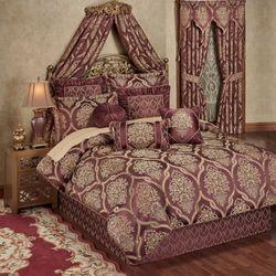 Laurelton Comforter Set Wine