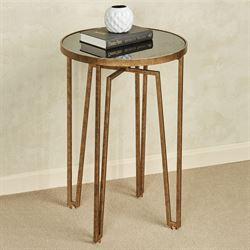 Nour Round Accent Table Gold