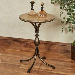 Santo Pedestal Table Bronze
