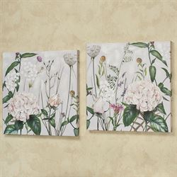 Botanical Beauties Floral Canvas Wall Art Multi Pastel Set of Two