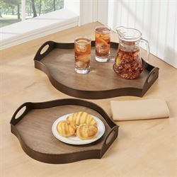 Breslin Serving Trays Bronze Set of Two