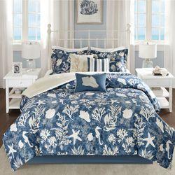 Cape Cod Comforter Bed Set Blue