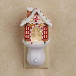 Gingerbread House Swirl Nightlight Multi Warm