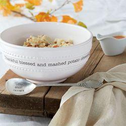 Circa Mashed Potato Bowl and Serving Spoon White 2 Piece Set
