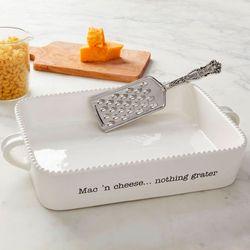 Circa Mac n Cheese Baking Dish and Grater White 2 Piece Set
