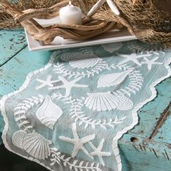 Seagrove Lace Table Runner White 14 x 40