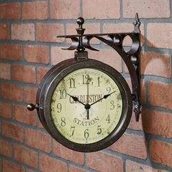 Station Wall Clock Aged Bronze