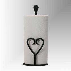 Heart Paper Towel Holder Black