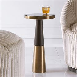 Fortier Round Accent Table Brass